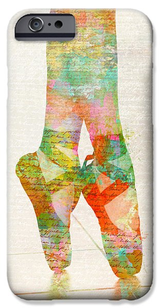 Ballet Digital Art iPhone Cases - On Tippie Toes iPhone Case by Nikki Marie Smith