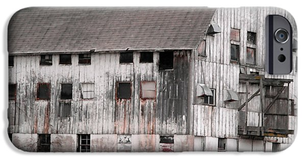 Old Barns iPhone Cases - Once upon a barn iPhone Case by David Bearden