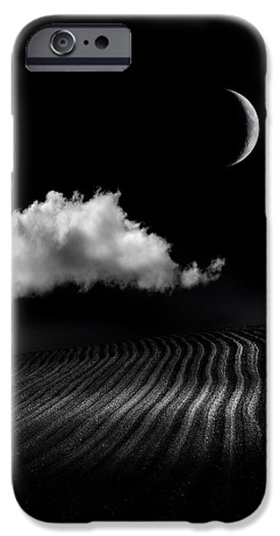 Moonscape iPhone Cases - One Cloud iPhone Case by Mal Bray