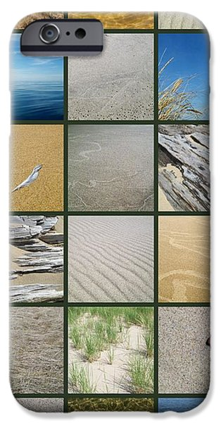 Sand Patterns iPhone Cases - One Day at the Beach ll iPhone Case by Michelle Calkins