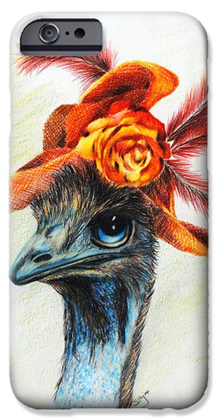 Emu iPhone Cases - One Hat Many Feathers iPhone Case by Jai Johnson