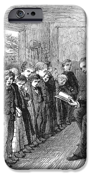 ONE-ROOM SCHOOLHOUSE, 1874 iPhone Case by Granger