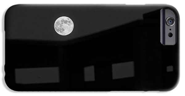 Man In The Moon iPhone Cases - One Small Step For A Man iPhone Case by Melany Sarafis