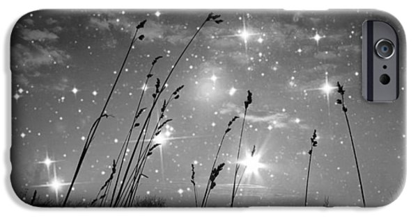 Visionary Artist iPhone Cases - Only the stars and me iPhone Case by Marianna Mills