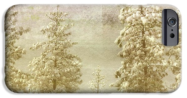 Snowy Mixed Media iPhone Cases - Only This Moment iPhone Case by Bonnie Bruno