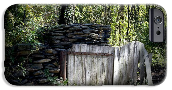 Old Barns iPhone Cases - Open Gate iPhone Case by Kelly Rader