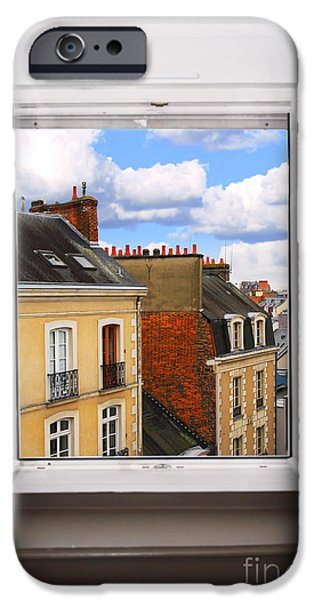 French Open iPhone Cases - Open window iPhone Case by Elena Elisseeva