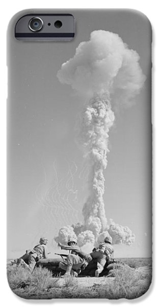 Black Dog iPhone Cases - Operation Tumbler-snapper Atom Bomb, 1952 iPhone Case by Us National Archives And Records Administration