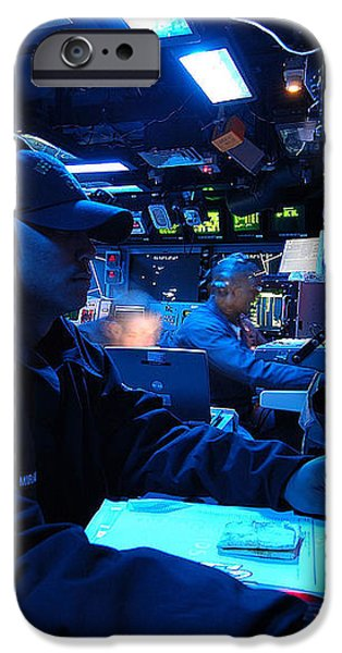 Operations Specialist Stands Watch iPhone Case by Stocktrek Images