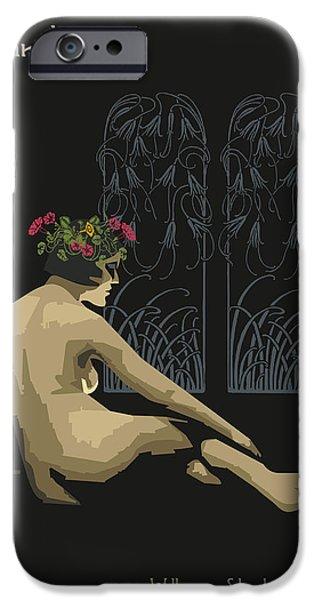 Sensitivity iPhone Cases - Ophelia-Hamlet iPhone Case by Joaquin Abella