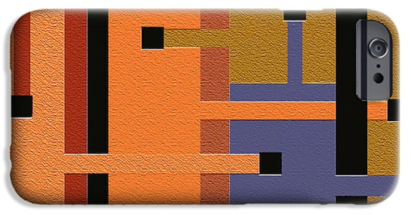 Geometrical Art iPhone Cases - Opinions iPhone Case by Ely Arsha