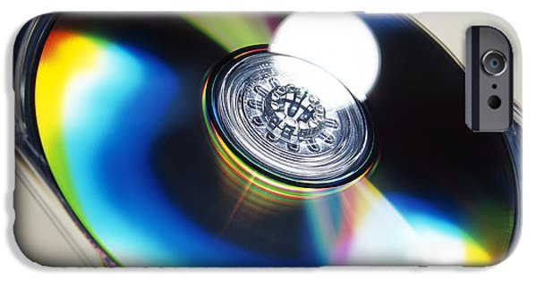 Disc iPhone Cases - Optical Disc iPhone Case by Tek Image