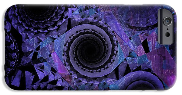 Geometric Effect iPhone Cases - Optical Illusion iPhone Case by Andee Design