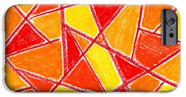 Expressionism Pastels iPhone Cases - Orange Abstract iPhone Case by Hakon Soreide