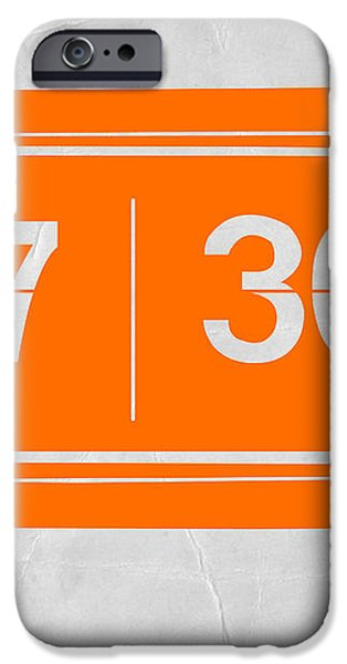 Orange alarm iPhone Case by Naxart Studio