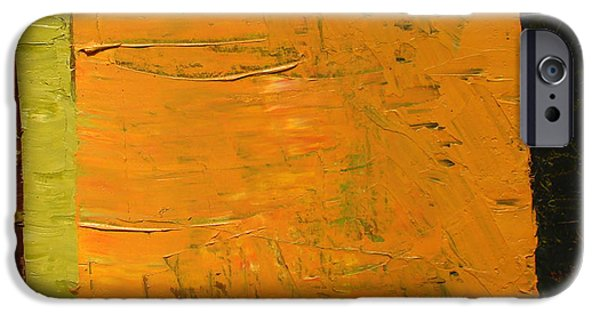Tangerines Paintings iPhone Cases - Orange and Brown iPhone Case by Michelle Calkins
