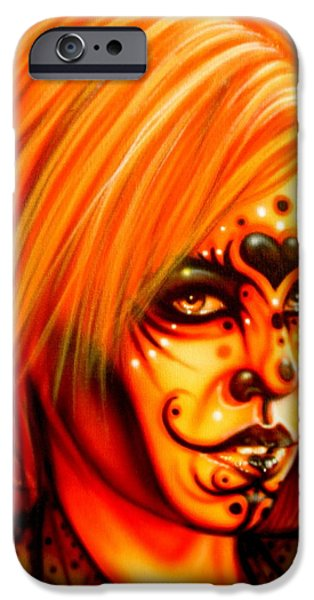 Airbrush iPhone Cases - Orange Beauty iPhone Case by Tim  Scoggins