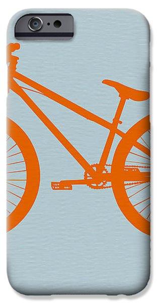 Orange Bicycle  iPhone Case by Naxart Studio