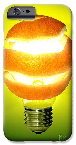Creativity Photographs iPhone Cases - Orange Lamp iPhone Case by Carlos Caetano