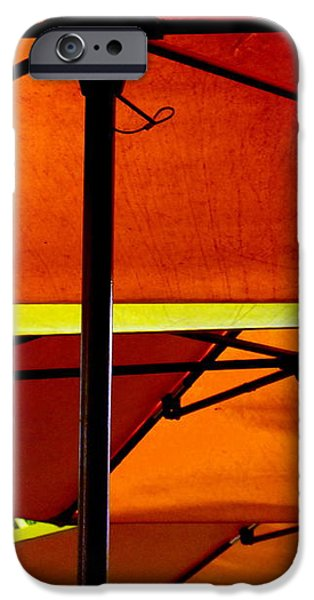Orange Sliced Umbrellas iPhone Case by KAREN WILES