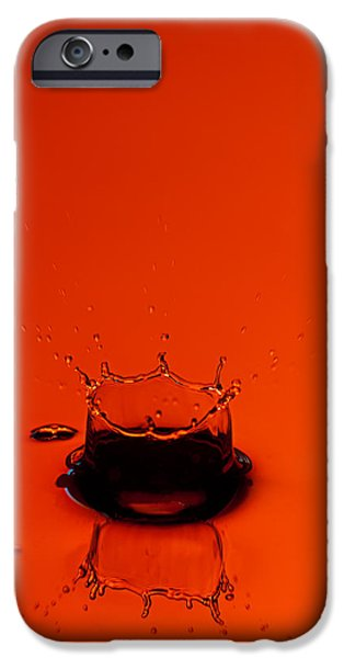 Orange Splash iPhone Case by Steve Gadomski