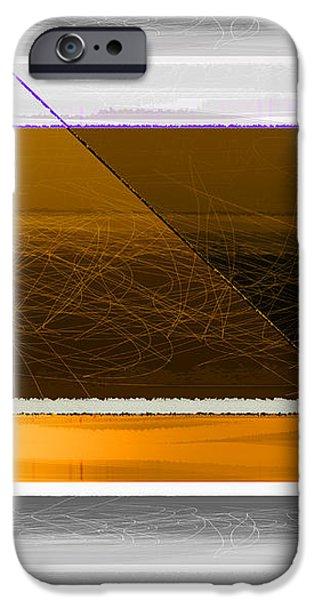Orange Stripe iPhone Case by Naxart Studio