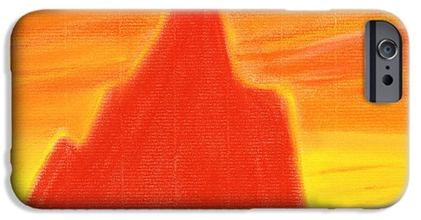 Abstract Expressionist Pastels iPhone Cases - Orange Sunset iPhone Case by Hakon Soreide