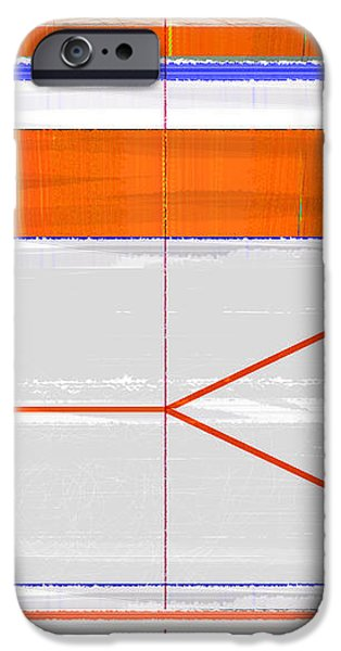 Orange Triangle iPhone Case by Naxart Studio