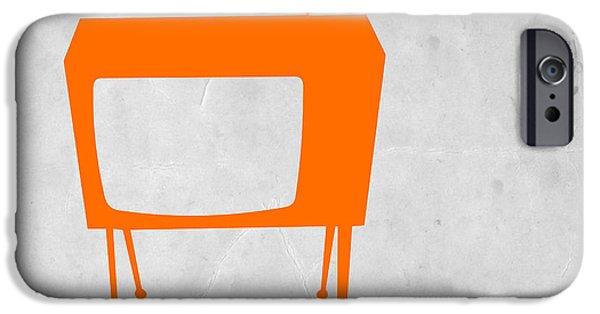 Kids iPhone Cases - Orange TV iPhone Case by Naxart Studio