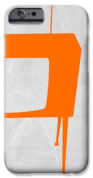 Orange TV iPhone Case by Naxart Studio