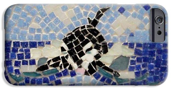 Animals Ceramics iPhone Cases - Orca Mosiac iPhone Case by Jamie Frier