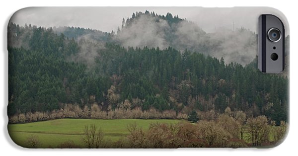 Field. Cloud iPhone Cases - Oregon Countryside  iPhone Case by Carol  Eliassen