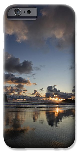 Coast Pyrography iPhone Cases - Oregon Reflection iPhone Case by Lavold Photography