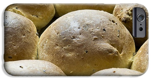 Bread iPhone Cases - Organic Bread Rolls iPhone Case by Frank Tschakert