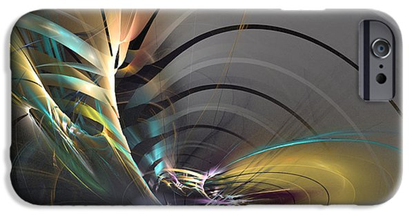 Colorful Abstract Algorithmic Contemporary iPhone Cases - Oriental mood iPhone Case by Sipo Liimatainen