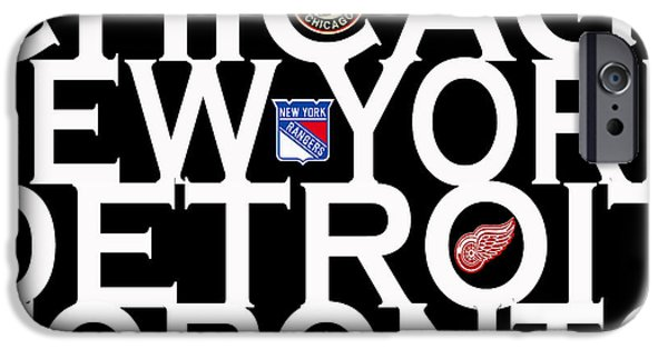 Chicago iPhone Cases - Original Six iPhone Case by Andrew Fare