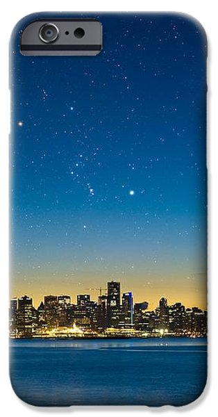 Orion Over Vancouver, Canada iPhone Case by David Nunuk