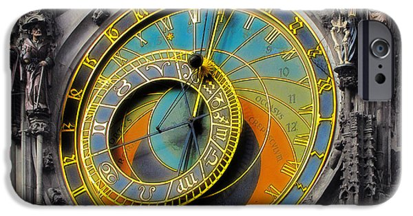 Chronometer iPhone Cases - Orloj - Astronomical Clock - Prague iPhone Case by Christine Till