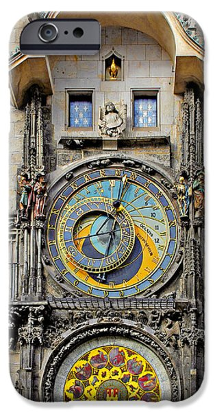 Chronometer iPhone Cases - ORLOJ - Prague Astronomical Clock iPhone Case by Christine Till