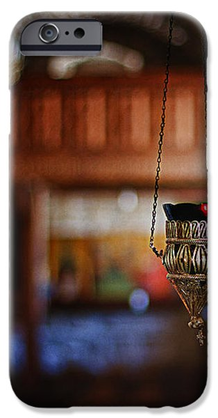 orthodox church oil candle iPhone Case by Stylianos Kleanthous
