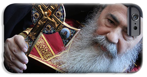 Patriarch iPhone Cases - Orthodox Patriarch iPhone Case by Munir Alawi