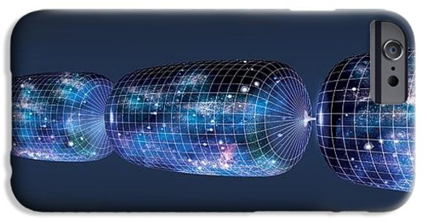 Cut-outs iPhone Cases - Oscillating Universe Theory, Artwork iPhone Case by Claus Lunau