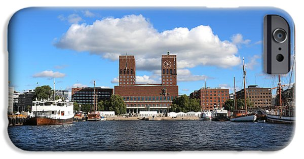 Oslo iPhone Cases - Oslo Harbor iPhone Case by Carol Groenen