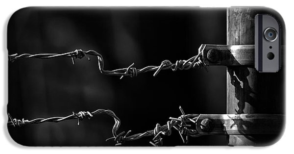 Fences iPhone Cases - Other side of the fence iPhone Case by Bob Orsillo