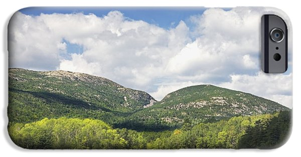 Maine iPhone Cases - Otter Cove And mountains Acadia National Park iPhone Case by Keith Webber Jr