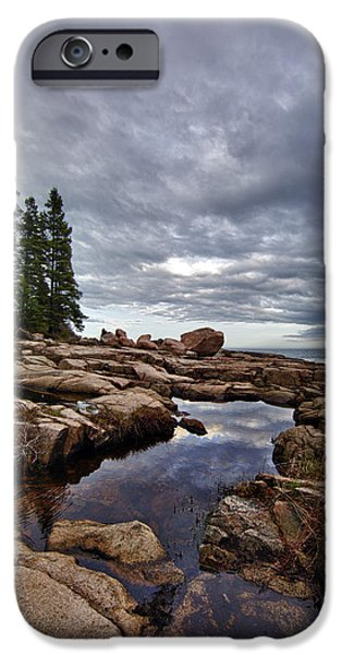 Maine iPhone Cases - Otter Point Reflections iPhone Case by Rick Berk