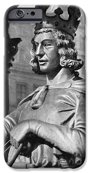 Statue Portrait iPhone Cases - Otto I (912-973) iPhone Case by Granger