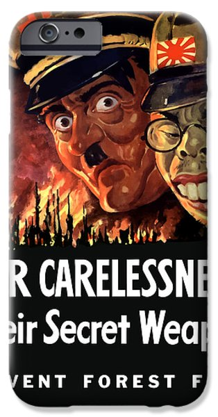 Caricature Digital Art iPhone Cases - Our Carelessness Their Secret Weapon iPhone Case by War Is Hell Store