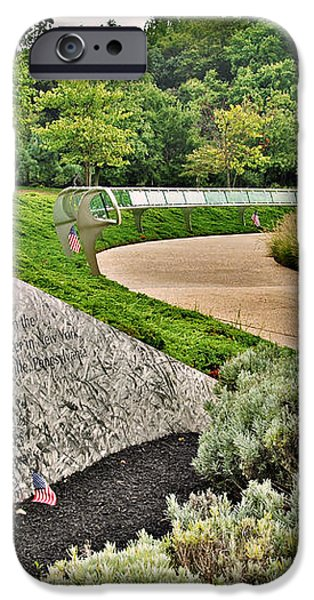 Our Nation Lost 2973 People - Garden Of Reflection iPhone Case by Angie Tirado