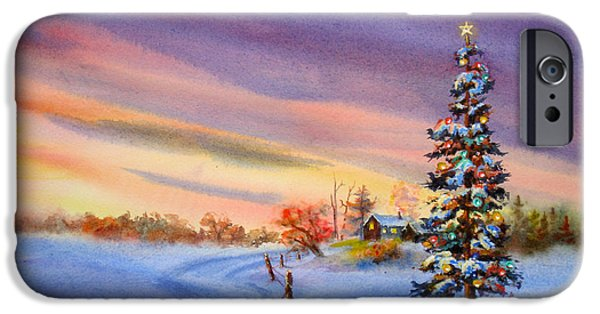 Christmas Greeting iPhone Cases - Out In The Country  iPhone Case by Mohamed Hirji